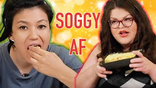 Kristin And Jen Try Every Trader Joe's Holiday Food | Kitchen & Jorn
