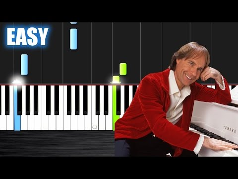 Ballade pour Adeline - Richard Clayderman - EASY Piano Tutorial by PlutaX - Synthesia