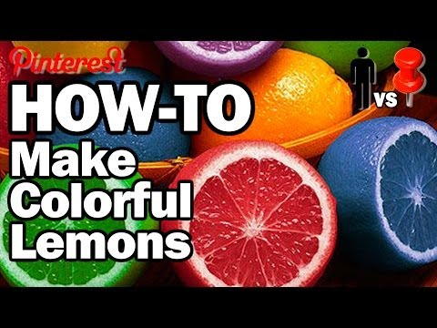 DIY Dyed Lemons - Man vs. Pin #15