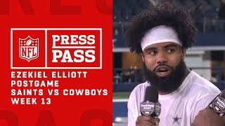 "Ezekiel Elliott on Snapping Saints 10 Game Win Streak, ""We run and we hit"""