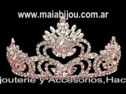 Coronas Coronitas en Strass 15 años, novias, Princesas, Tiaras, Diademas www.maiabijou.com.ar