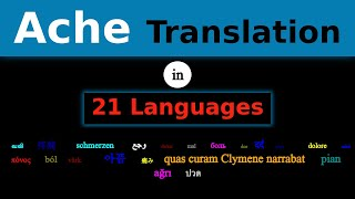 ACHE Translation in 21 Languages