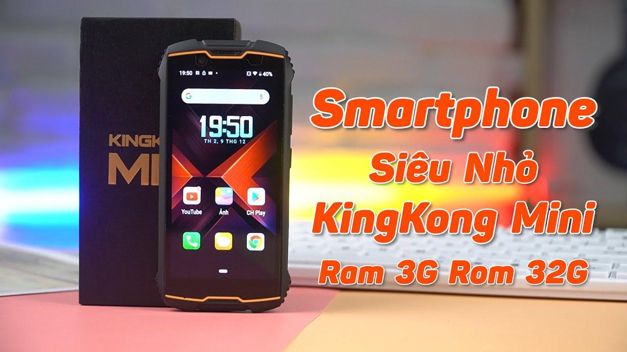 Download Đập Hộp Smartphone Siêu Nhỏ Chỉ 4inch, Ram 3G Rom 32G Giá 2 Triệu Qúa Ngon! Cubot Kingkong Mini