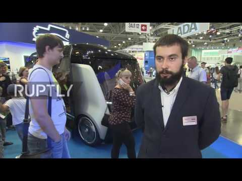 Russia: Driverless electric shuttle bus unveiled at Moscow auto show
