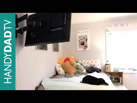 IKEA Hack Platform Bed TV - Articulating Wall Mount