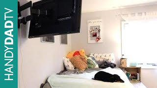 IKEA Hack Platform Bed TV - Articulating Wall Mount