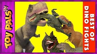 DINOSAURS Best of DINOSAUR FIGHTS | Compilation Video of Dinosaur Toy Fights for Kids by Toypals.tv