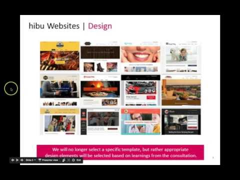 New hibu Website Product  and Online Display Presentation