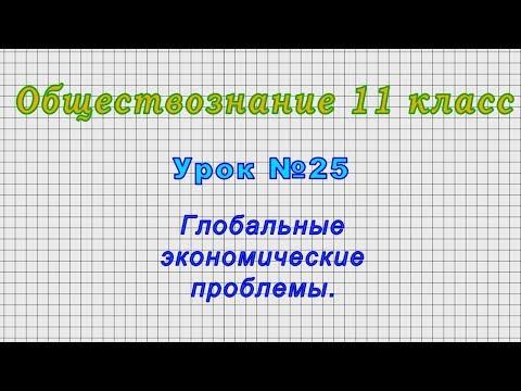 Обществознание 11 класс (Урок№25 - Глобальные экономические проблемы.)
