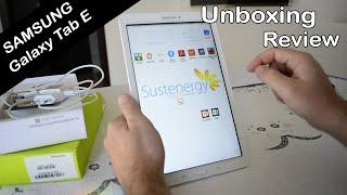 Unboxing Review Samsung Galaxy Tab E - Americanas Tablet T560n 9,6 Polegadas Branco Unbox Tab E 2016
