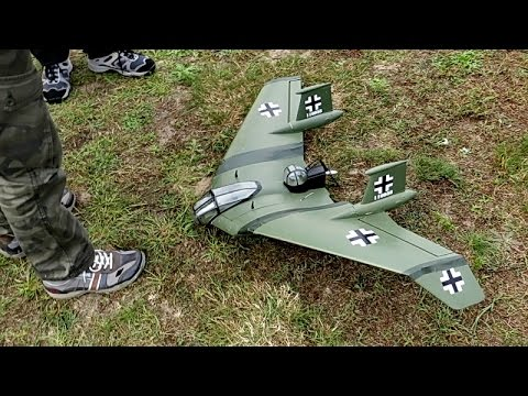 Rc Scale Horten Nurflügler Flight Demonstration Hd Youtube