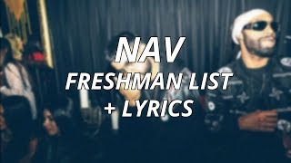 Baixar NAV - Freshman List (With Lyrics)