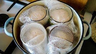 видео Домашняя колбаса в кружке вареная