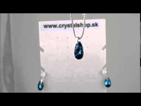 Set Swarovski Elements Pear Bermuda Blue SET6106BB16
