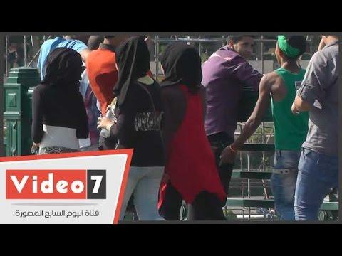 بالفيديو..شاهد مجند شرطة يضبط أصغر متحرش بكورنيش النيل