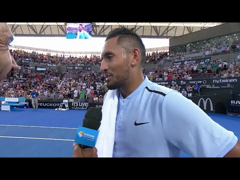 Nick Kyrgios On-Court Interview (SF) | Brisbane International 2018