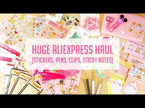 HUGE AliExpress Kawaii Stationery Haul!