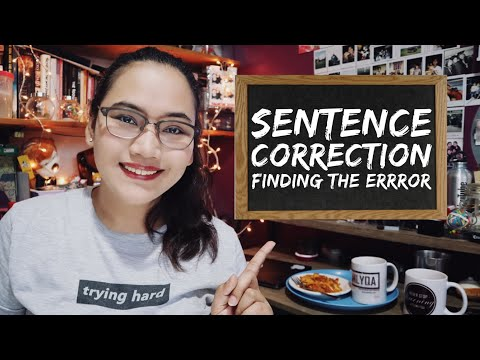Sentence Correction Tips - Finding The Error - CSE And UPCAT Review