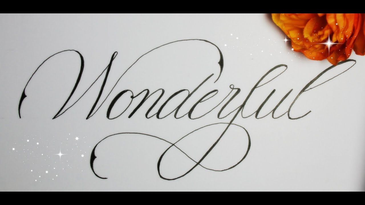 Welcome ♥ I want to show you how to write beautiful letters and