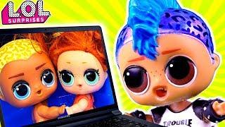 ПАНКИ В ШОКЕ!! Скейти и Скриббл вместе?? Мультик про куклы ЛОЛ сюрприз LOL dolls