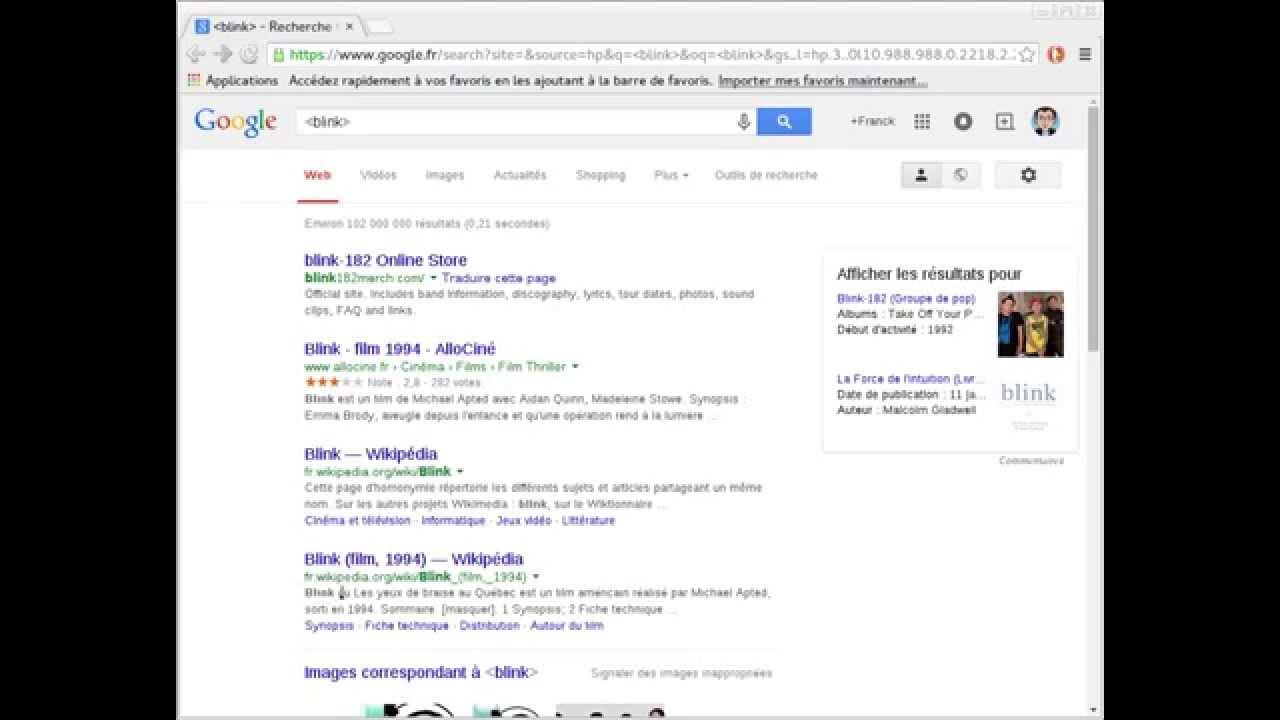 Easter Egg Google :  Que ça clignote