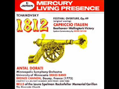 1812 Overture Cannon Shots From 1958 Stereo Mercury Lp Youtube