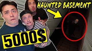LAST PERSON TO LEAVE HAUNTED BASEMENT WINS 5000$ CASH! *SCARY*