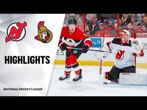 NHL Highlights   Devils @ Senators 1/27/20