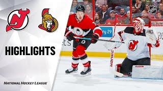 NHL Highlights | Devils @ Senators 1/27/20