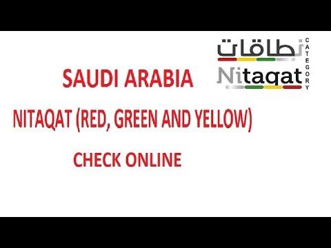 Saudi Arabia Iqama Nitaqat Red,Green & Yellow Check