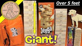 Giant Jenga Worlds Largest Licensed Wood JENGA TOWER! Comparing 3 Jenga Towers