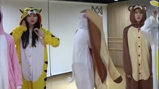 [오마이걸] 지호가 동물잠옷 입은 승희랑 유아를 보고 …