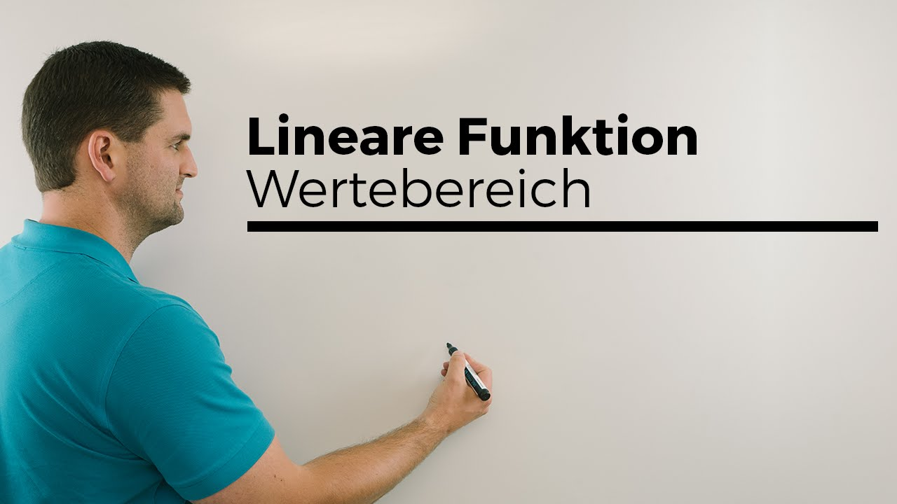 Lineare Funktion, Wertetabelle, Zeichnung, Definitionsbereich ...