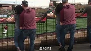 Horny Baseball Couple FINGER BANG As Audience Watches