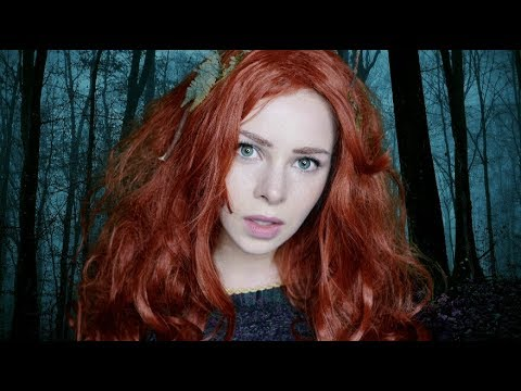 ASMR Merida the Brave (relaxing, night time forest ambience, fire crackling)