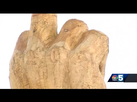 Man Erects Huge Middle Finger Statue to Protest Local Government