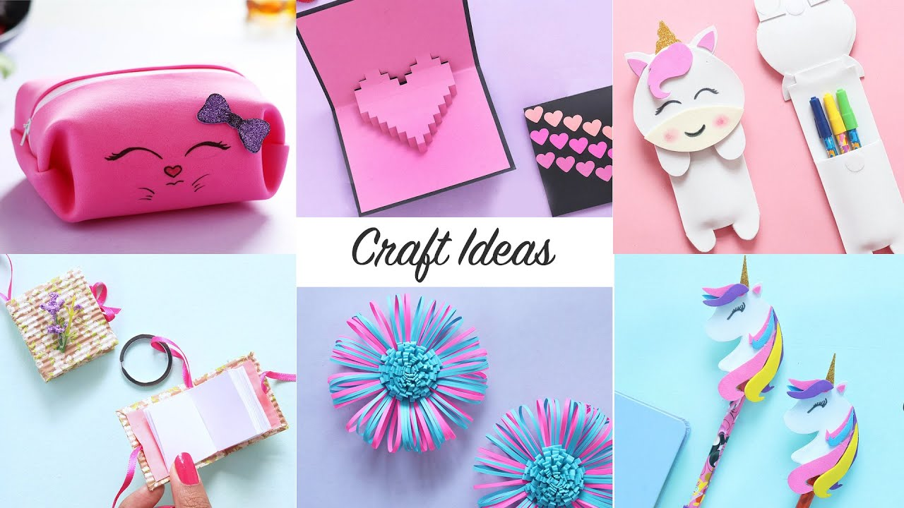 6 Easy Craft Ideas Craft Ideas Diy Crafts Youtube