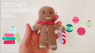 Amigurumi Crochet Gingerbread Man. Easy pattern for beginners