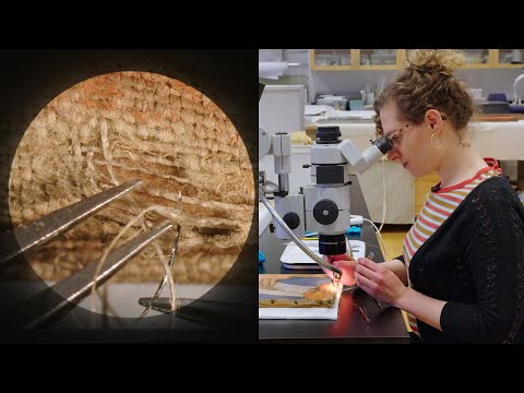 Microscopically reweaving a 1907 painting | CONSERVATION STO