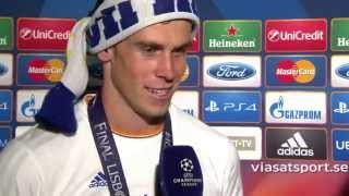 Real Madrid Vs Atletico Madrid 4-1 Gareth Bale Interview (Champions League Final 2014)