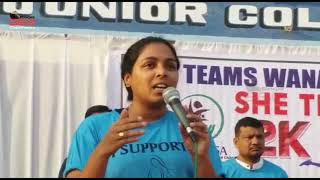 Wanaparthy  District collector Swetha Mohanty,  launched the 2k Run