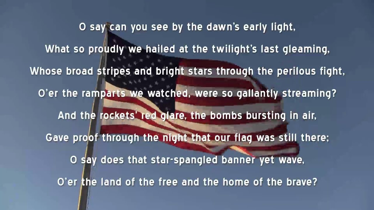 Star Spangled Banner (U.S. National Anthem) with Lyrics ...