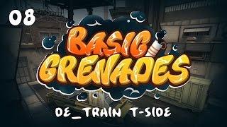 #8 Базовый раскид смоков за T на de_train // Basic smoke setups for T-side on de_train