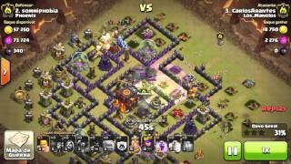 Gowipe - Cv9 Vs Cv10 - 2 star - Carlos Arantes - Clash of Clans