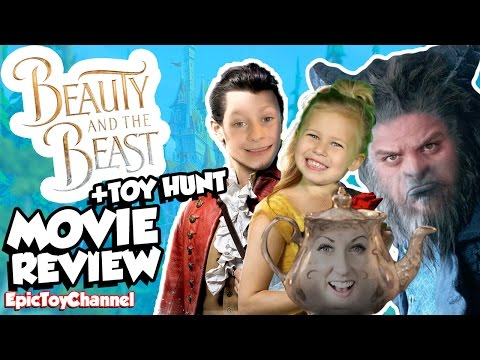 BEAUTY AND THE BEAST 2017 Family Movie Review, Toy Hunt and Beauty and the Beast Parody Family Fun