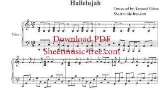 Hallelujah Piano Sheet Music Leonard Cohen