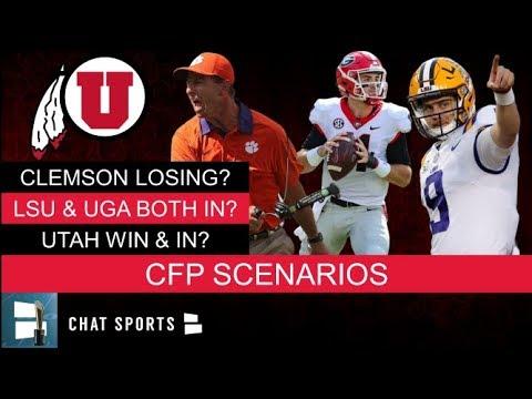 College Football Playoff Scenarios: Clemson Losing, LSU & Georgia Both Top 4 & Pac-12 Vs. Big 12?