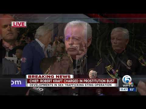 NEWS CONFERENCE: Jupiter police discuss sex sting arrests, including Patriots owner Robert Kraft