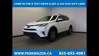 WHITE 2017 Toyota RAV4  Review Sherwood Park Alberta - Park Mazda