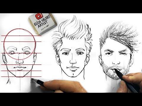 tutorial: come disegnare un volto proporzionato partendo da semplici forme geometriche.
